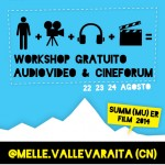 Workshop gratuito audiovideo e cineforum in Val Varaita