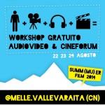 Workshop gratuito audiovideo e cineforum in Val Varaita